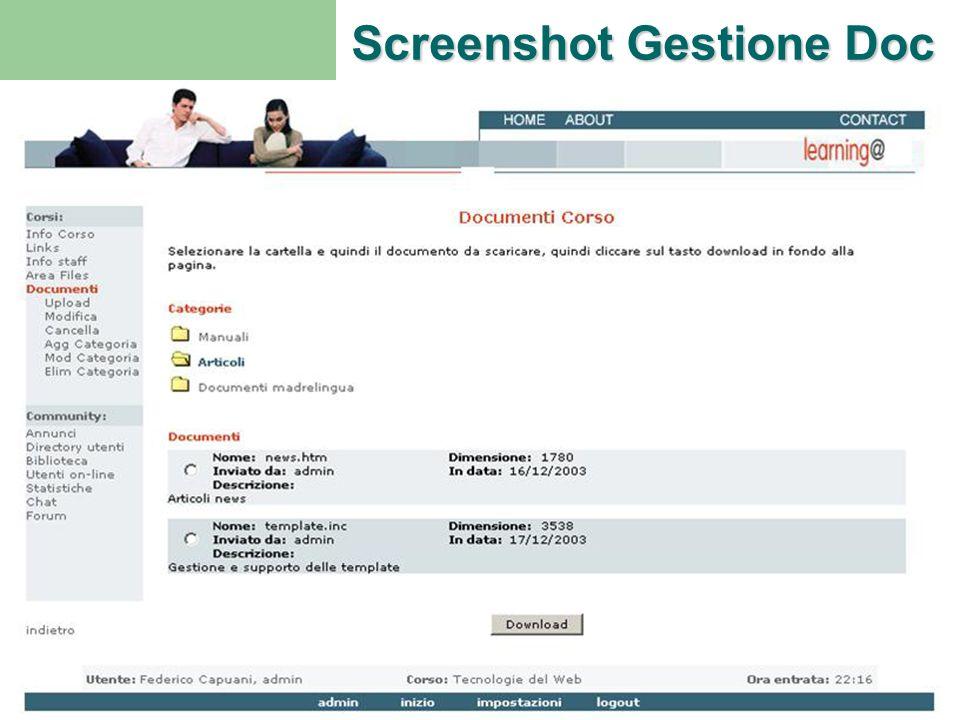 Screenshot Gestione Doc