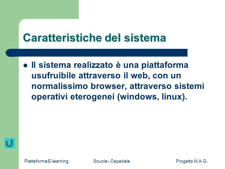Caratteristiche del sistema