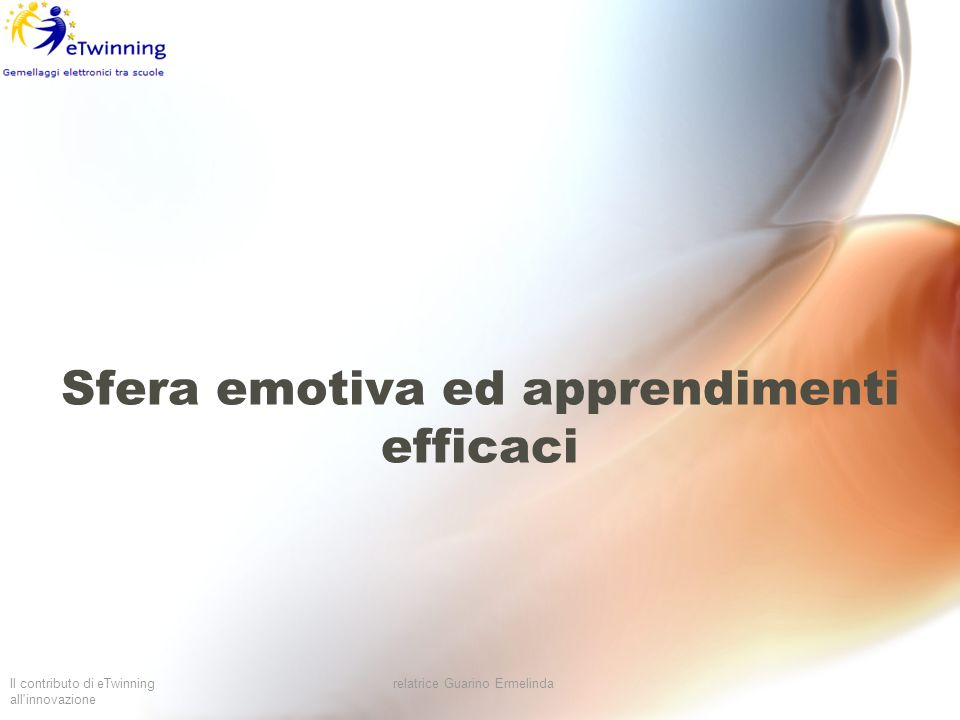 Sfera emotiva ed apprendimenti efficaci