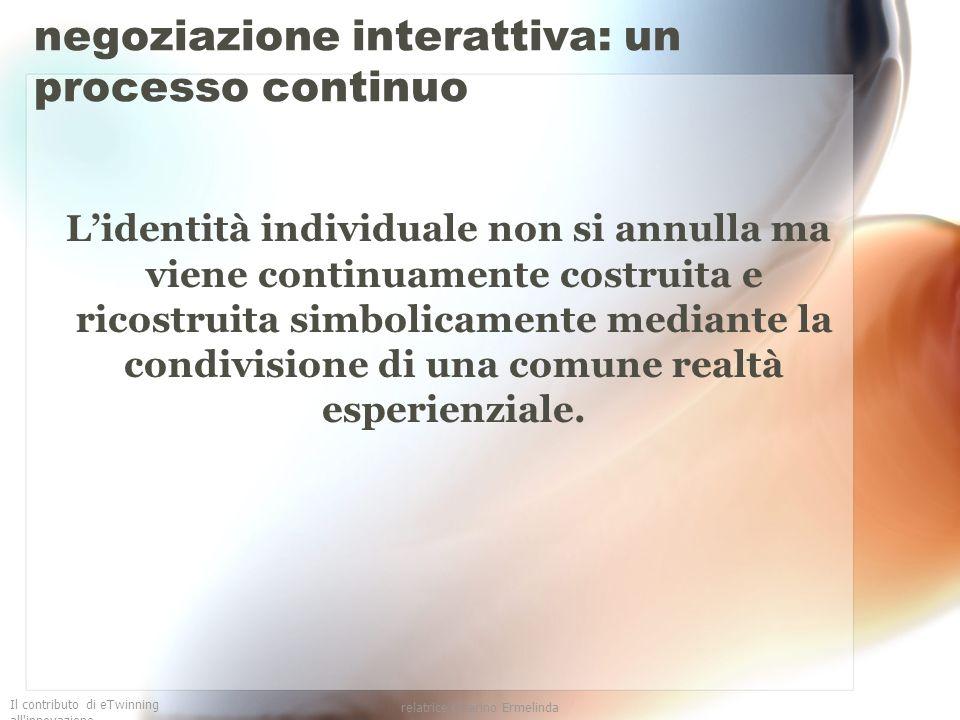 negoziazione interattiva: un processo continuo
