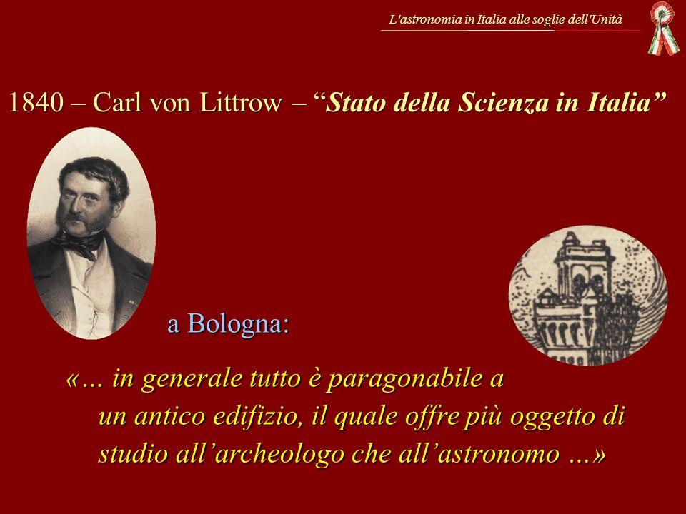 1840 – Carl von Littrow – Stato della Scienza in Italia