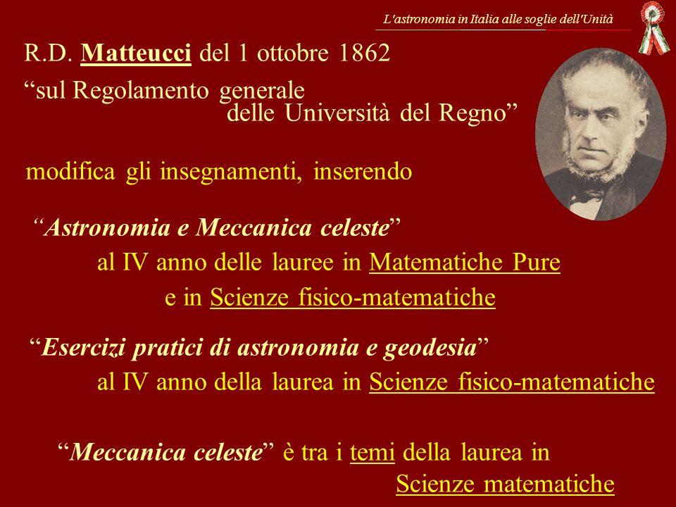 R.D. Matteucci del 1 ottobre 1862