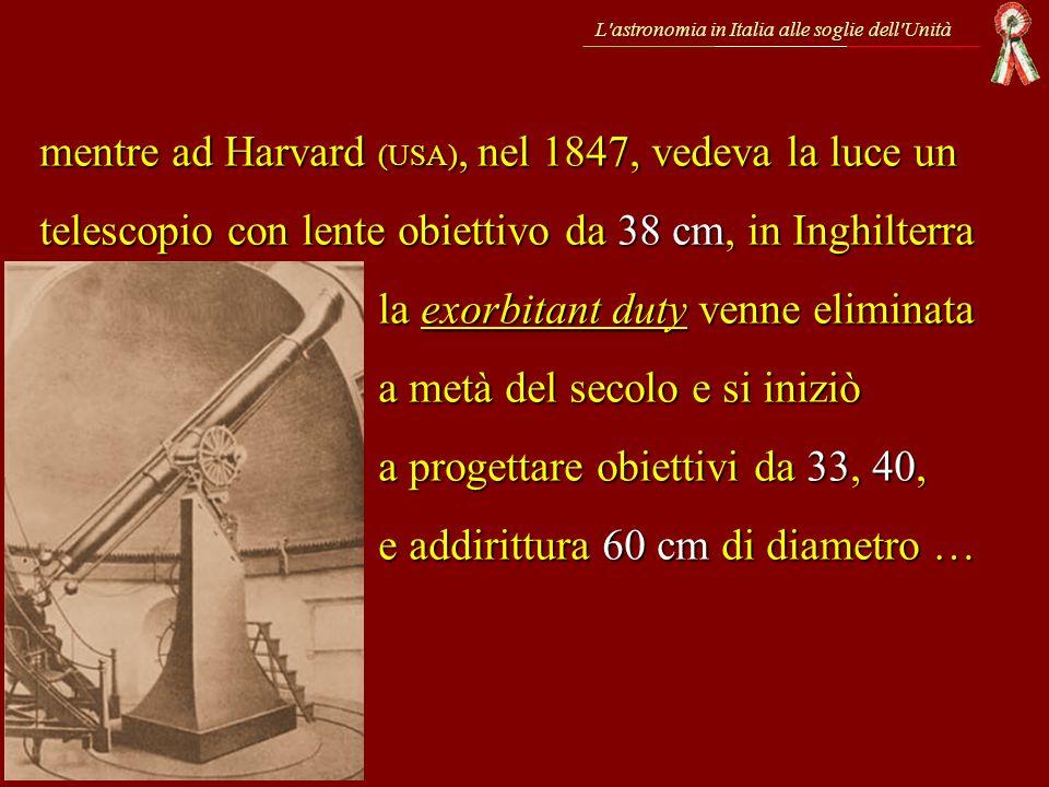 L astronomia in Italia alle soglie dell Unità