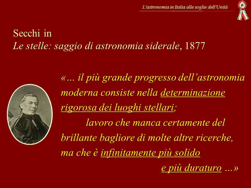 Secchi in Le stelle: saggio di astronomia siderale, 1877