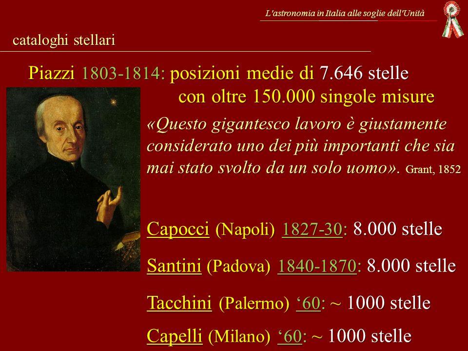 Capocci (Napoli) 1827-30: 8.000 stelle