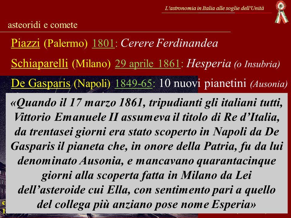 Piazzi (Palermo) 1801: Cerere Ferdinandea