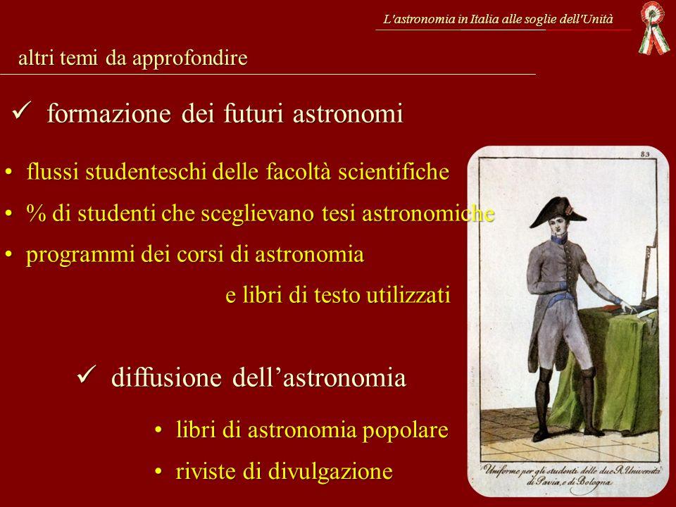 formazione dei futuri astronomi