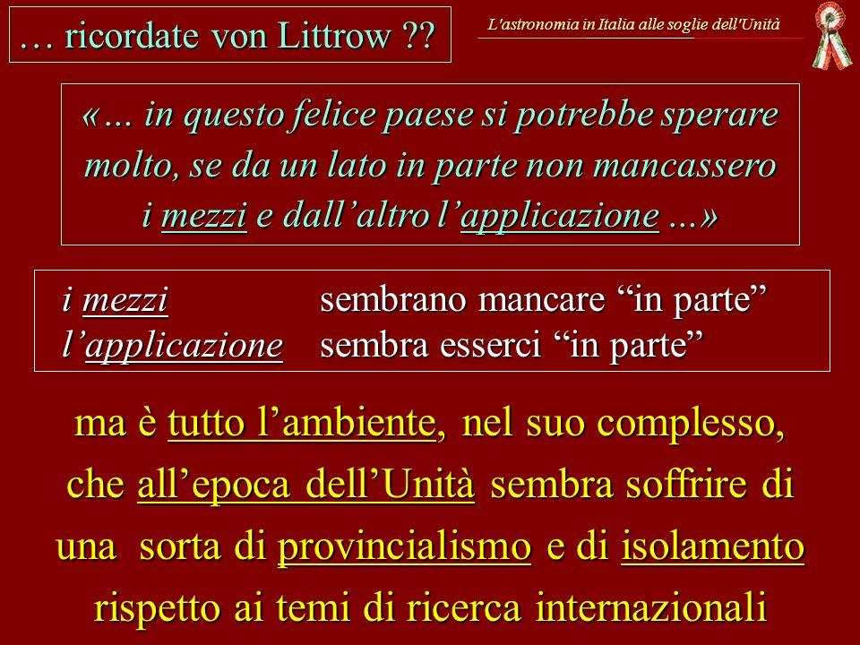 … ricordate von Littrow