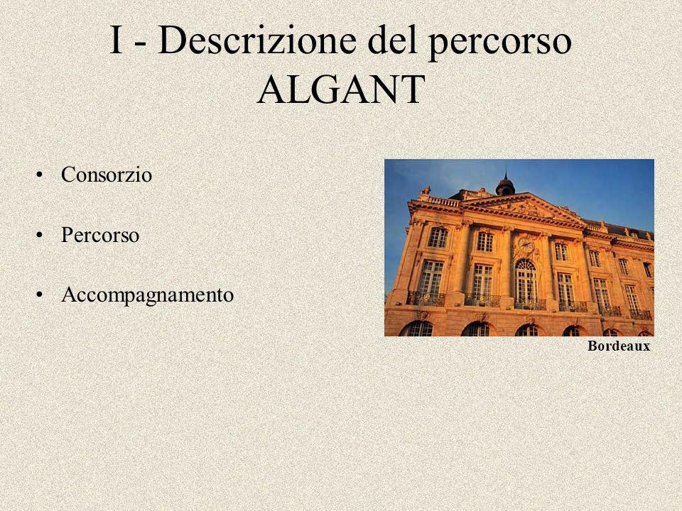 I - Descrizione del percorso ALGANT