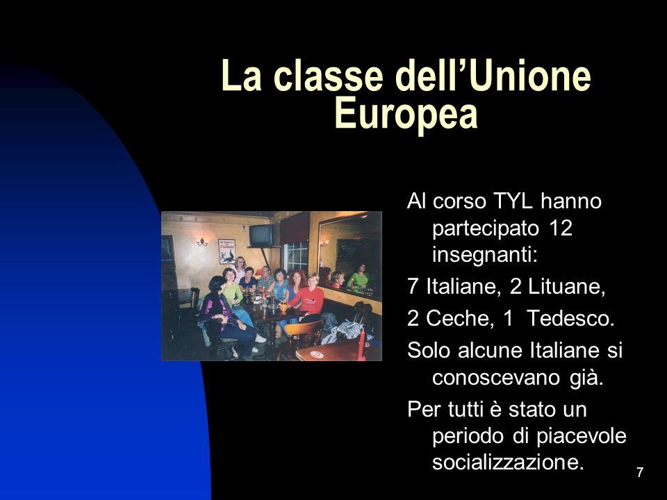 La classe dell'Unione Europea