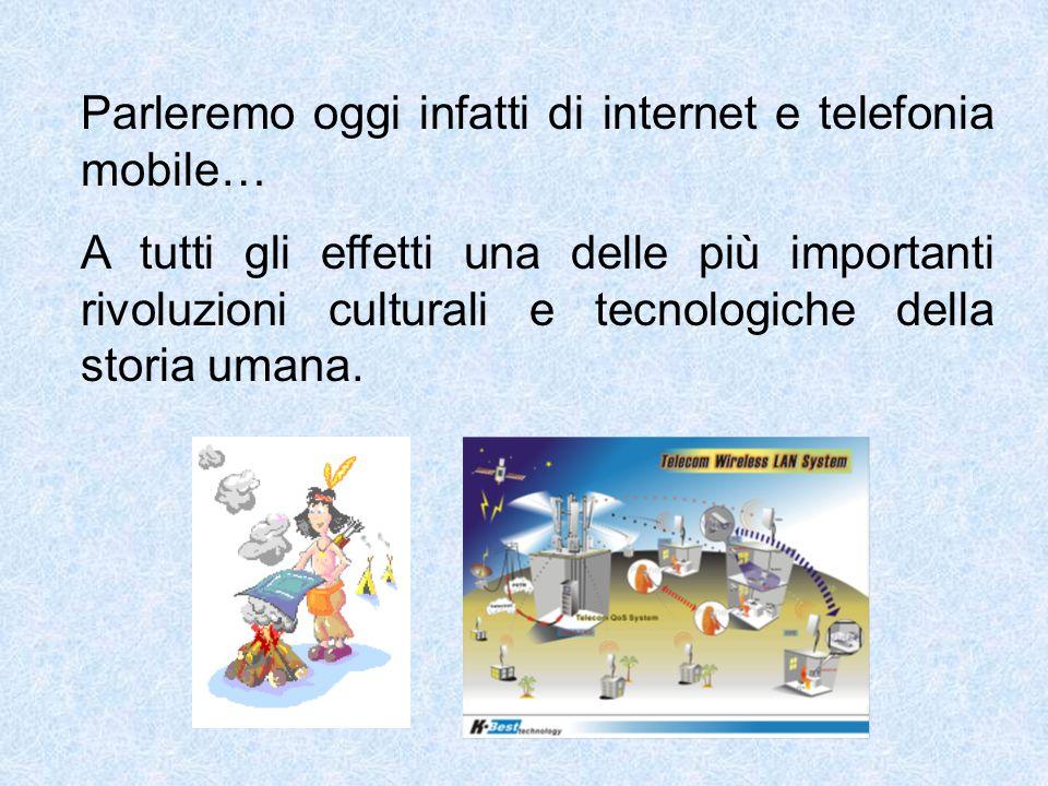 Parleremo oggi infatti di internet e telefonia mobile…