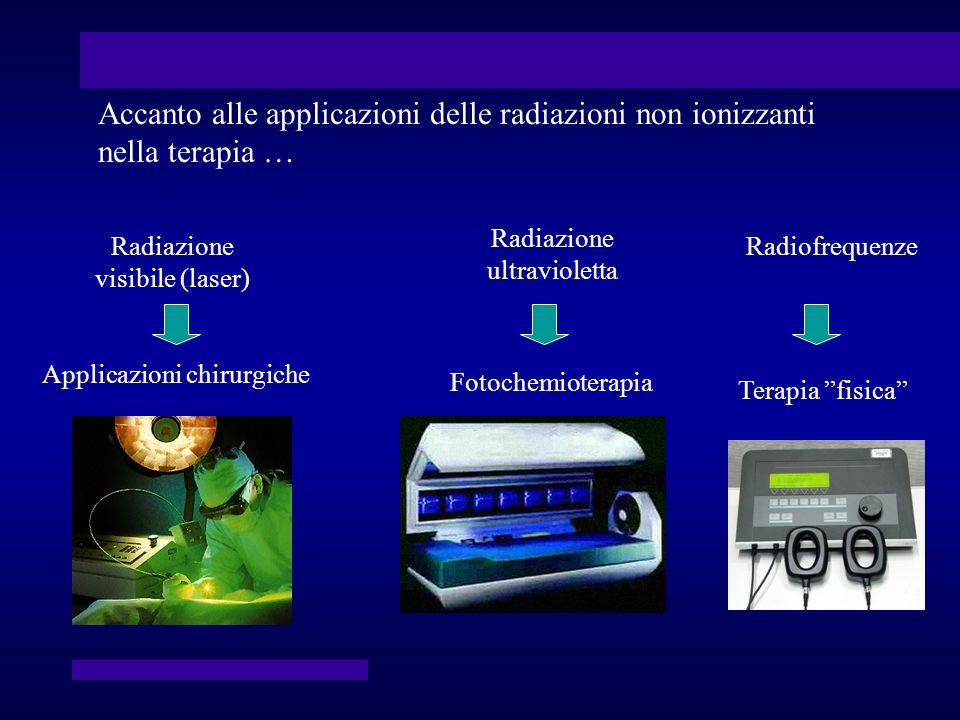 Accanto alle applicazioni delle radiazioni non ionizzanti nella terapia …