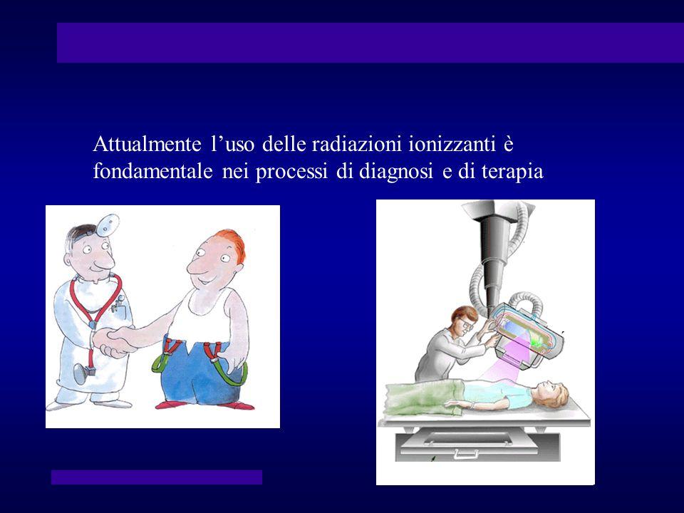 Attualmente l'uso delle radiazioni ionizzanti è fondamentale nei processi di diagnosi e di terapia