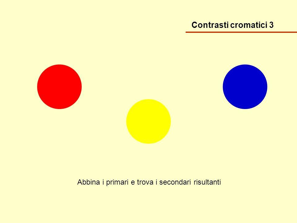 Contrasti cromatici 3 Abbina i primari e trova i secondari risultanti