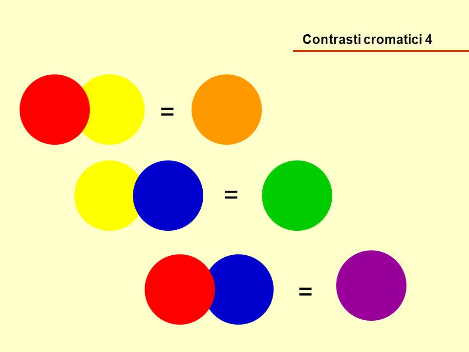 Contrasti cromatici 4 = = =