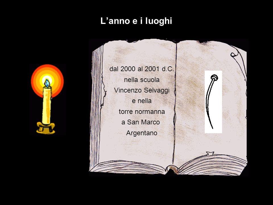L'anno e i luoghi dal 2000 al 2001 d.C. nella scuola Vincenzo Selvaggi