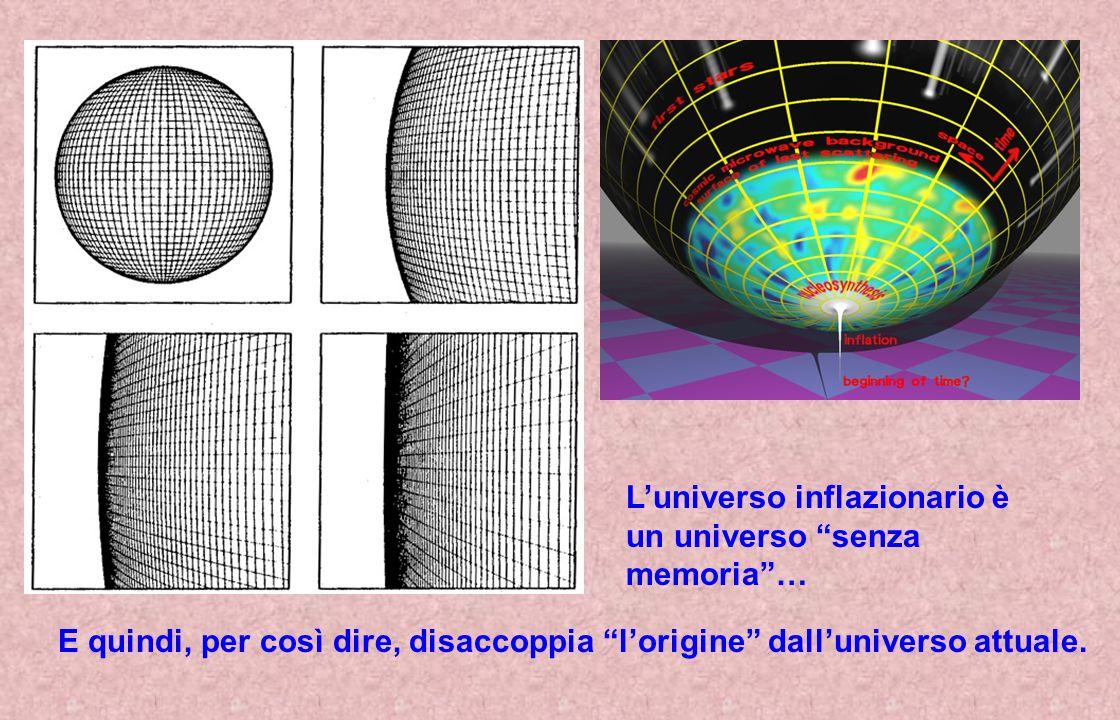 L'universo inflazionario è un universo senza memoria …