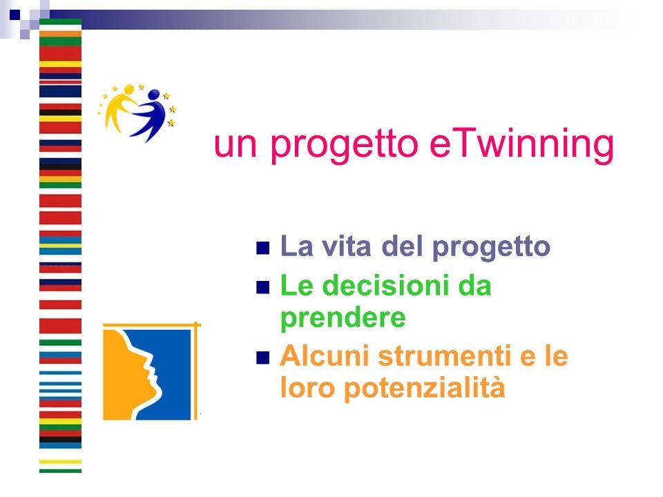un progetto eTwinning La vita del progetto Le decisioni da prendere