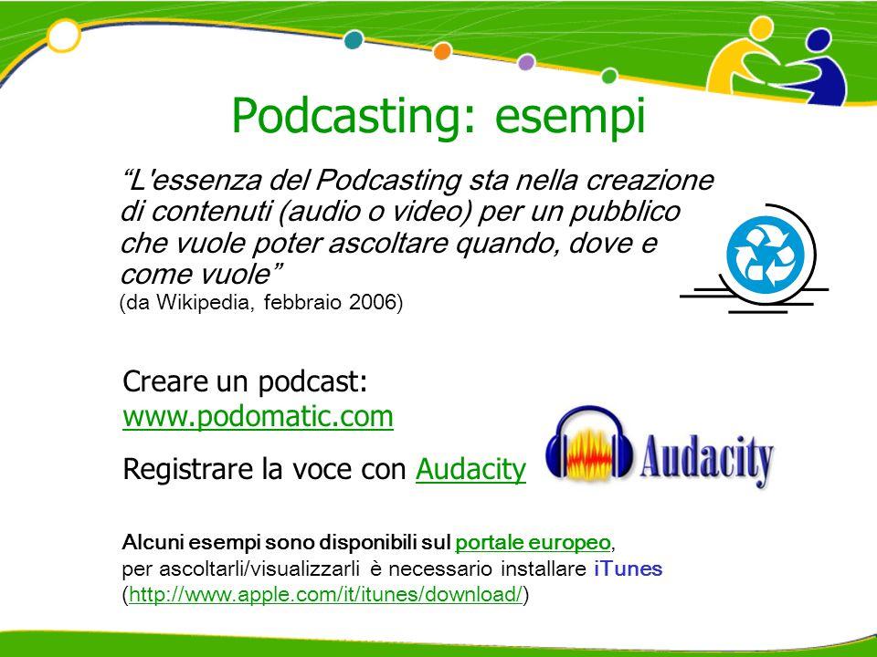 Podcasting: esempi