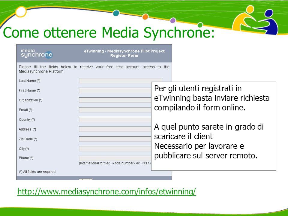 Come ottenere Media Synchrone: