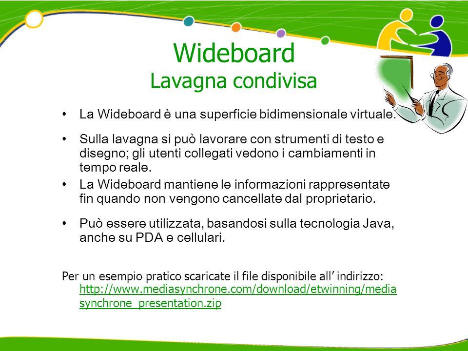 Wideboard Lavagna condivisa