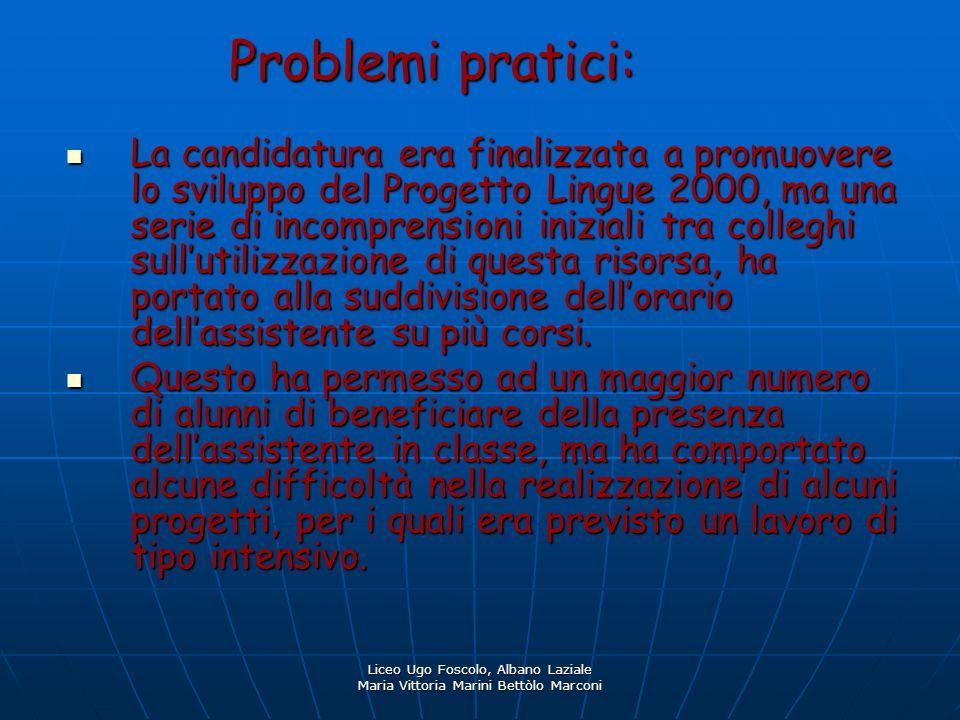 Problemi pratici: