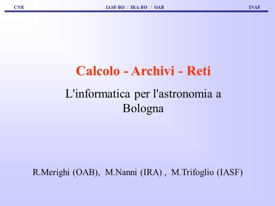 Calcolo - Archivi - Reti