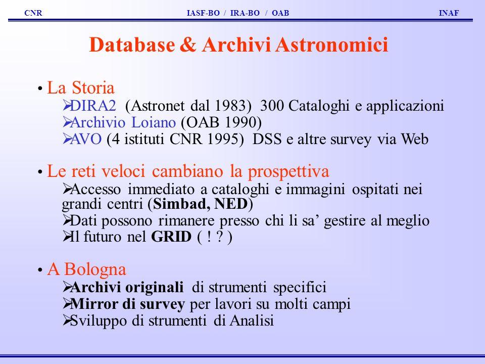 Database & Archivi Astronomici
