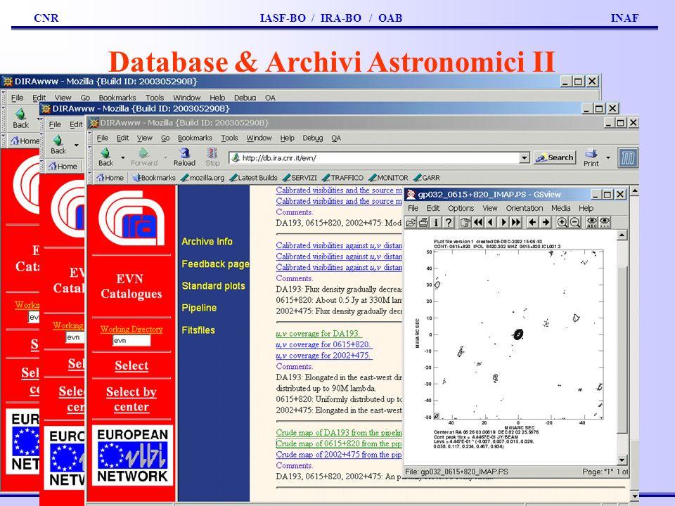 Database & Archivi Astronomici II