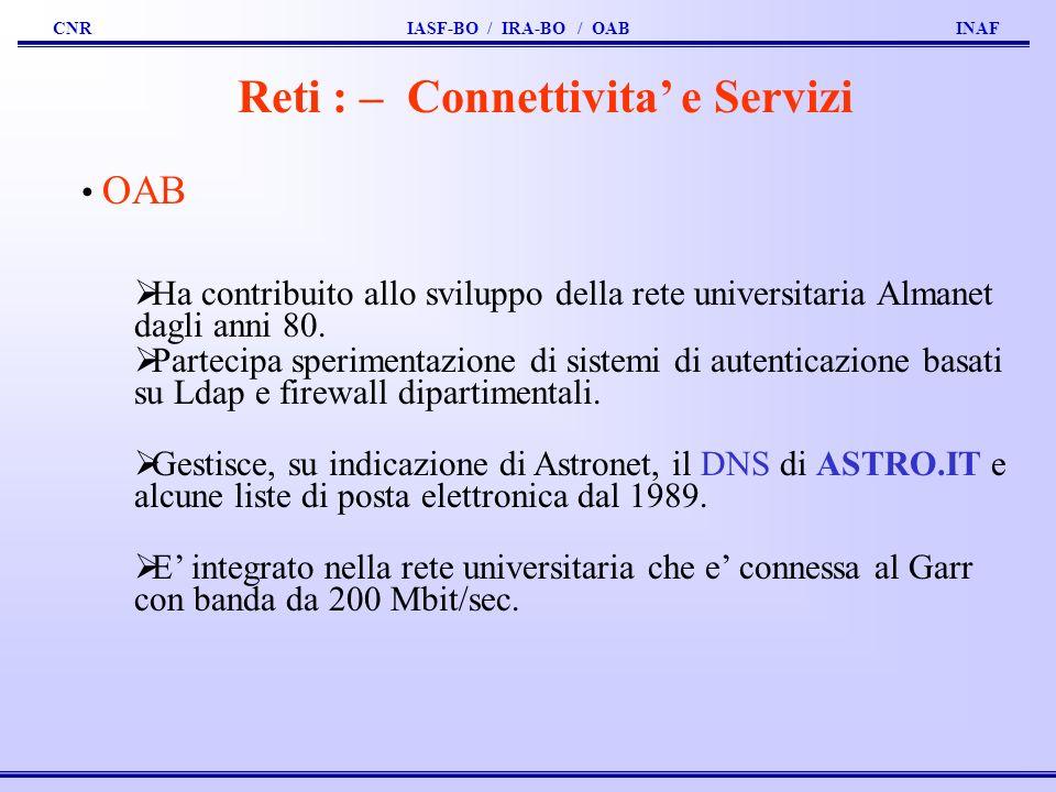 Reti : – Connettivita' e Servizi
