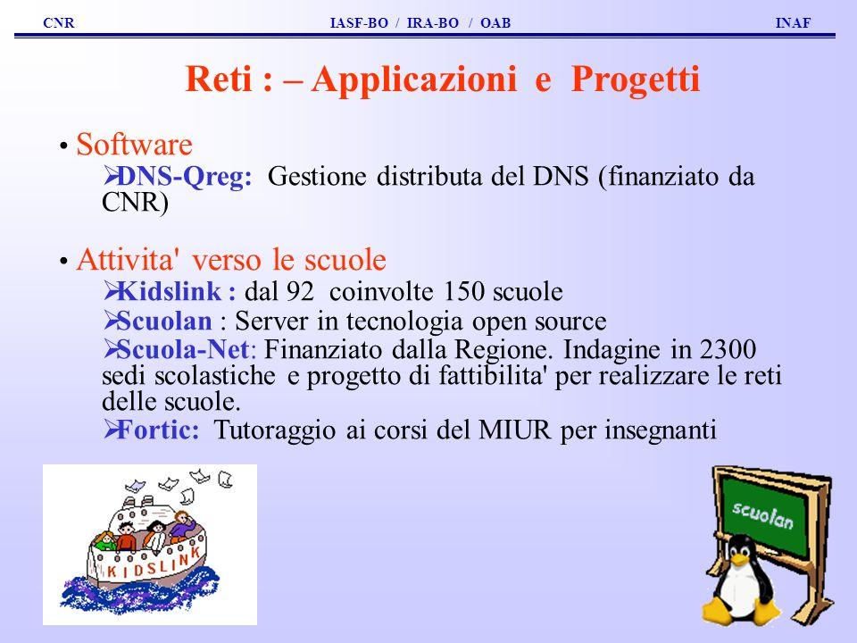 Reti : – Applicazioni e Progetti