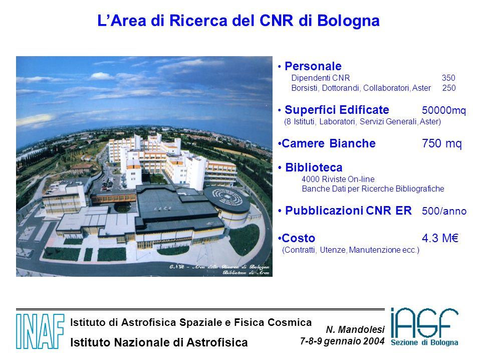 L'Area di Ricerca del CNR di Bologna