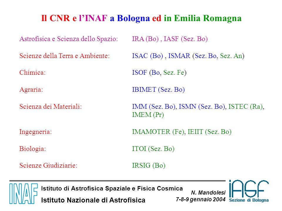 Il CNR e l'INAF a Bologna ed in Emilia Romagna