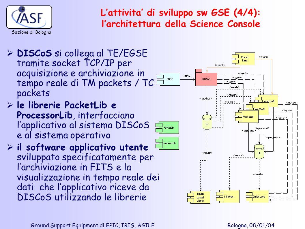 L'attivita' di sviluppo sw GSE (4/4): l'architettura della Science Console