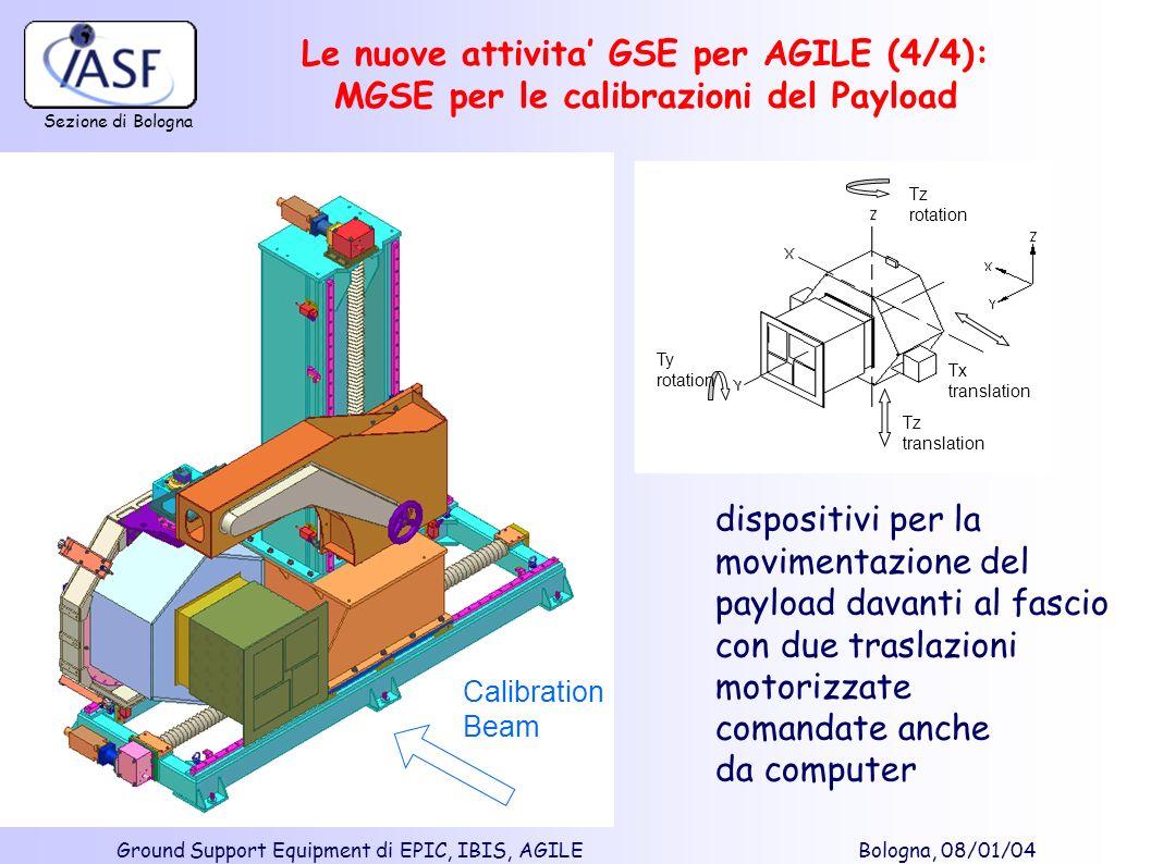 Le nuove attivita' GSE per AGILE (4/4): MGSE per le calibrazioni del Payload