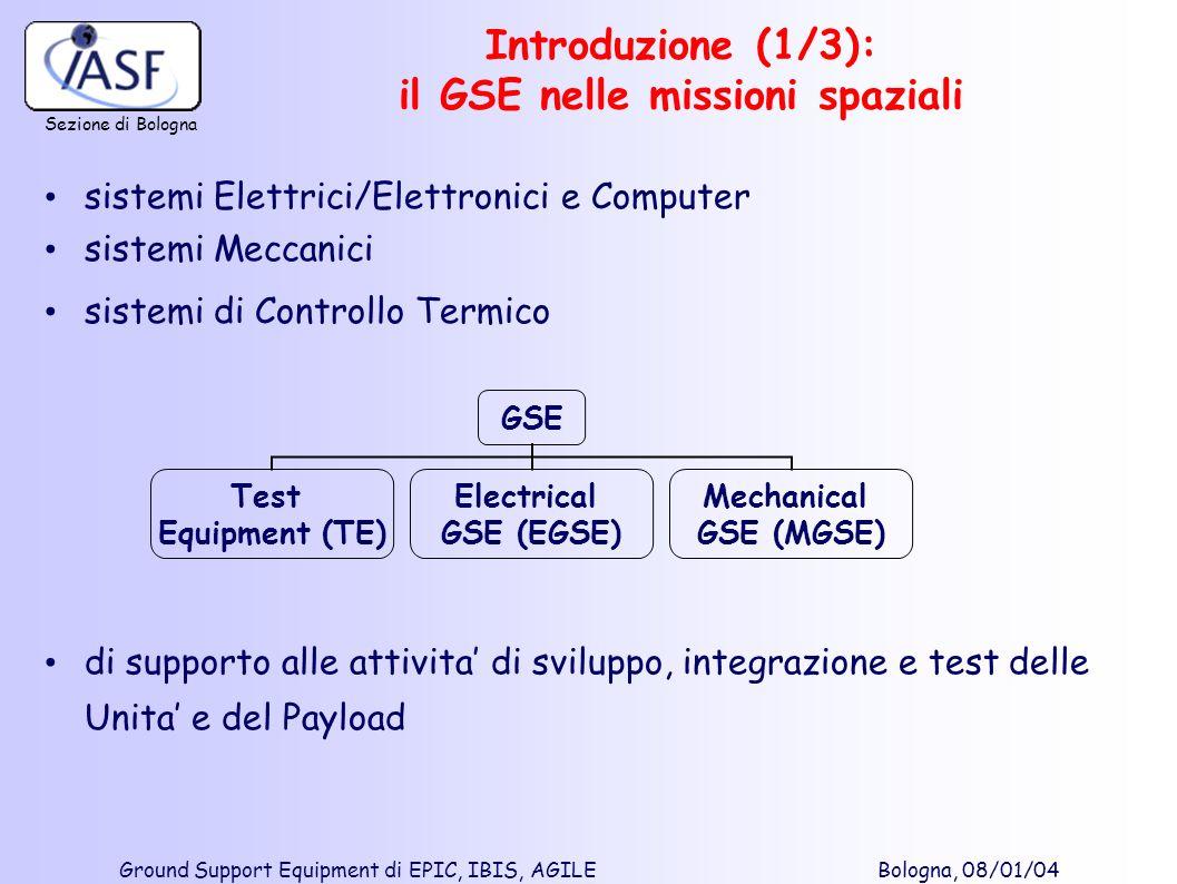 Introduzione (1/3): il GSE nelle missioni spaziali