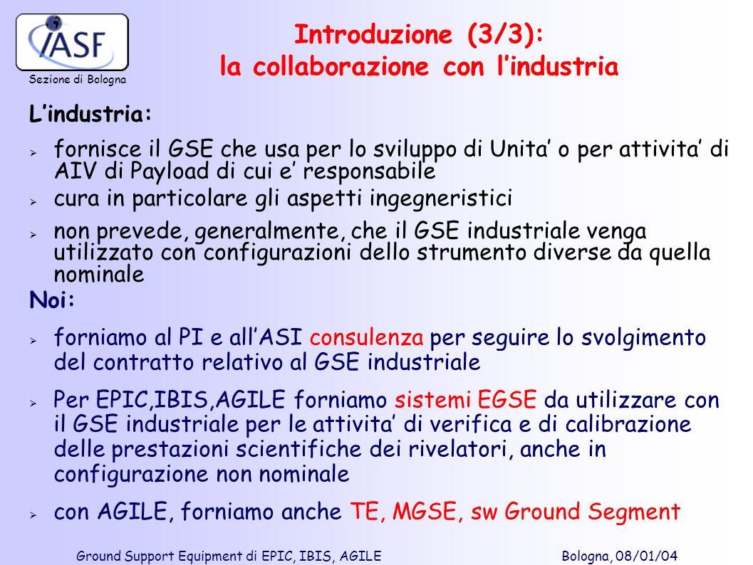 Introduzione (3/3): la collaborazione con l'industria