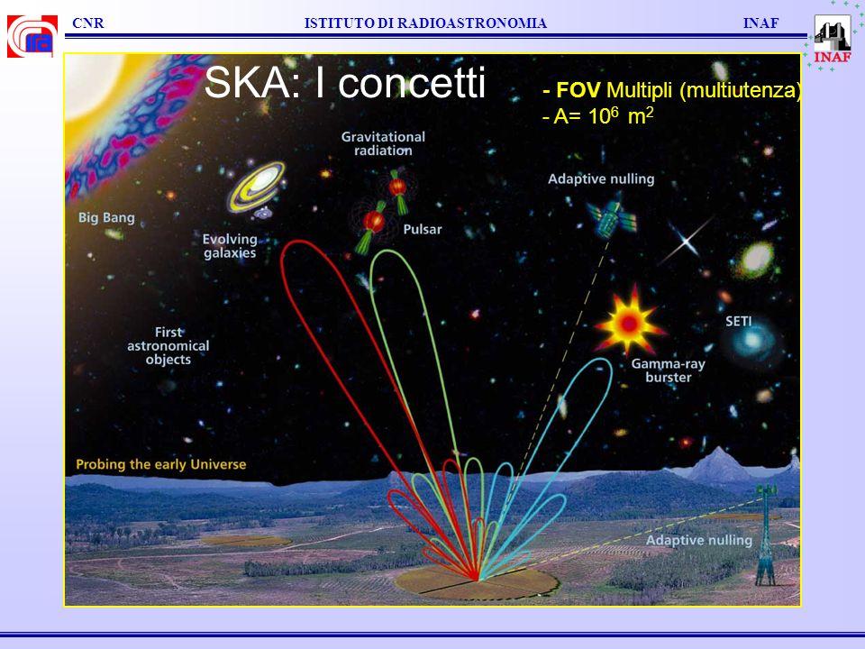 SKA: I concetti - FOV Multipli (multiutenza) - A= 106 m2