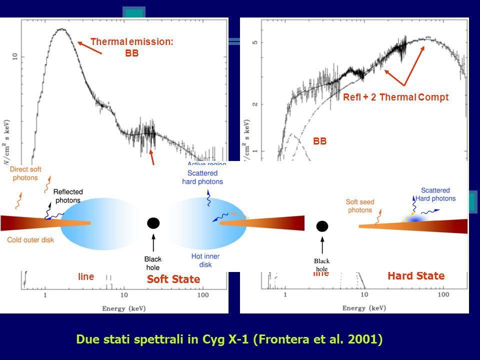 Due stati spettrali in Cyg X-1 (Frontera et al. 2001)