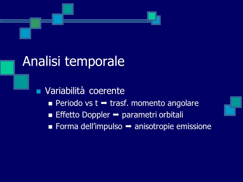 Analisi temporale Variabilità coerente
