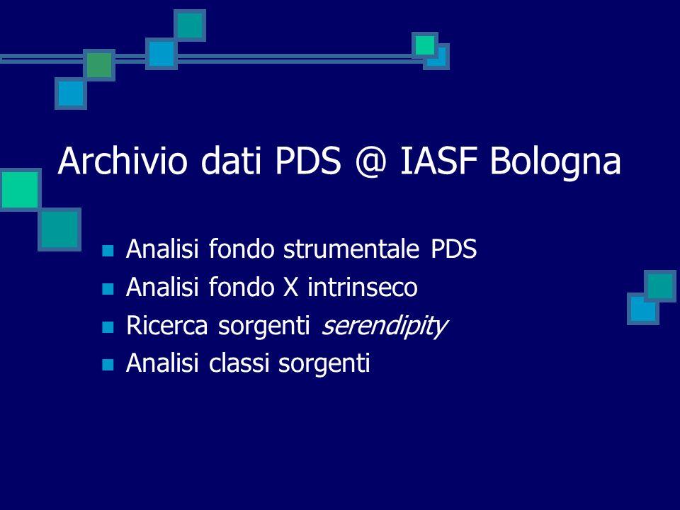 Archivio dati PDS @ IASF Bologna