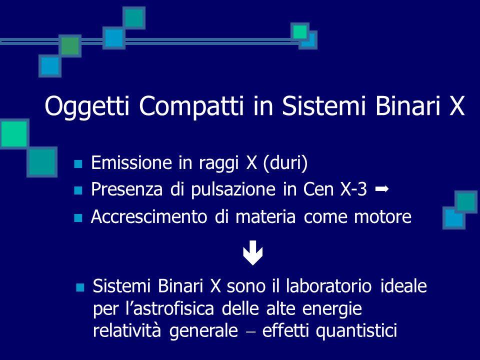 Oggetti Compatti in Sistemi Binari X