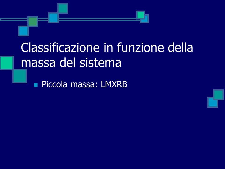 Classificazione in funzione della massa del sistema
