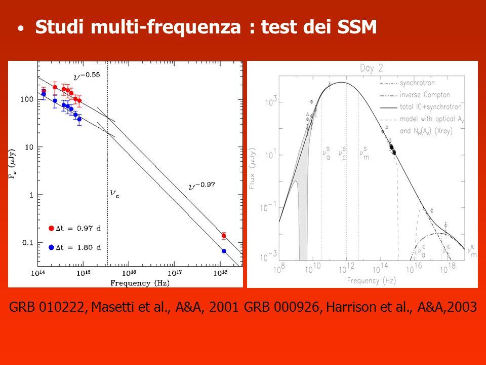 Studi multi-frequenza : test dei SSM