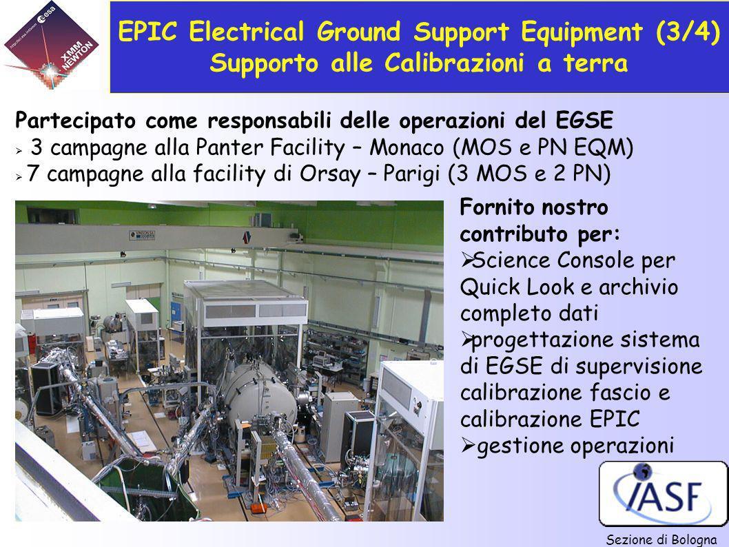 EPIC Electrical Ground Support Equipment (3/4) Supporto alle Calibrazioni a terra
