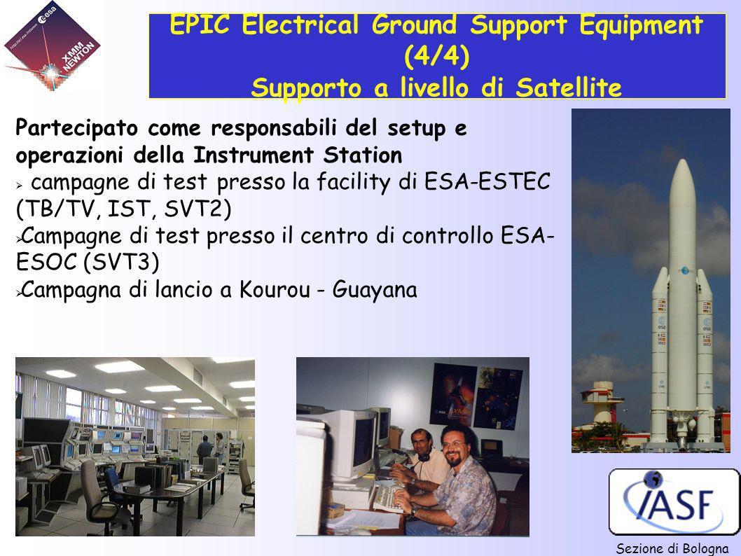 EPIC Electrical Ground Support Equipment (4/4) Supporto a livello di Satellite