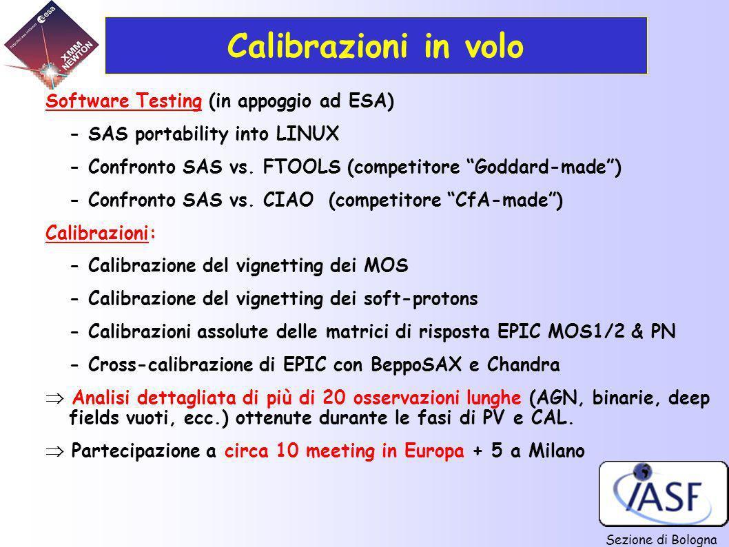 Calibrazioni in volo Software Testing (in appoggio ad ESA)