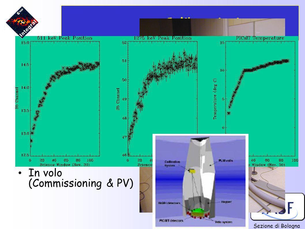 Calibrazioni A terra: (c/o LABEN, Alenia, ESA/ESTEC)