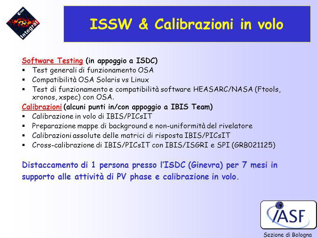 ISSW & Calibrazioni in volo