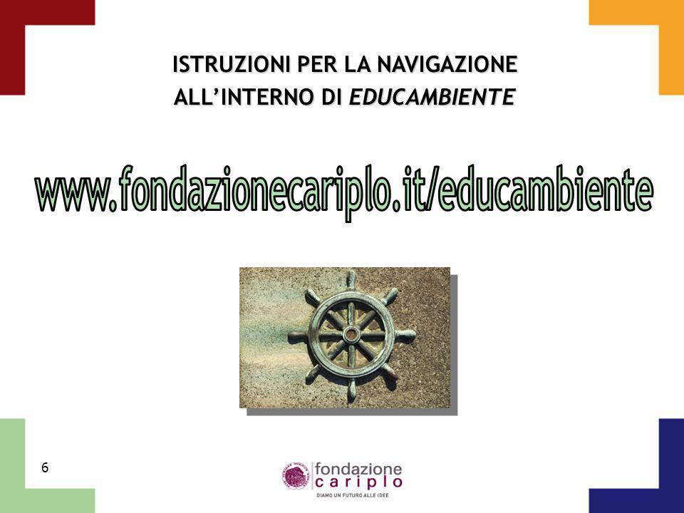 ISTRUZIONI PER LA NAVIGAZIONE ALL'INTERNO DI EDUCAMBIENTE